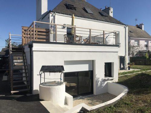 Extension avec terrasse